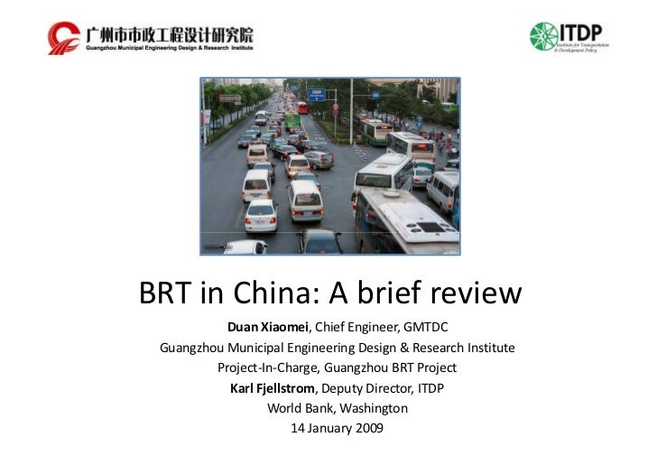BRT in China: A brief review