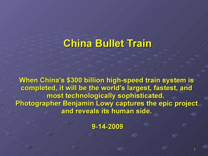 When China's $300 billion high-speed train system is completed, it will be the world's largest, fastest, and most technolo...