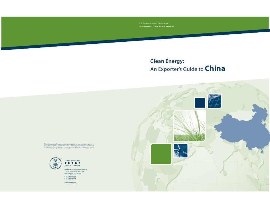 Clean Energy: An Exporter's Guide to China