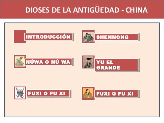 DIOSES DE LA ANTIGÜEDAD - CHINAINTRODUCCIÓN INTRODUCCIÓN     SHENNONG                  SHENNONGNÛWA O NÛ WANÛWA O NÛ WA   ...