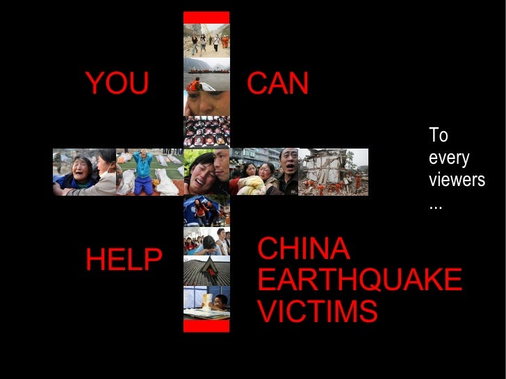 You Can Help China Earthquake Victims