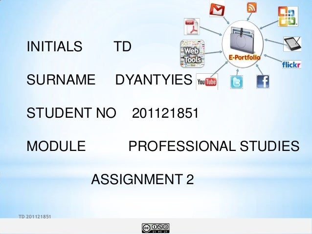INITIALS       TD  SURNAME        DYANTYIES  STUDENT NO          201121851  MODULE           PROFESSIONAL STUDIES         ...