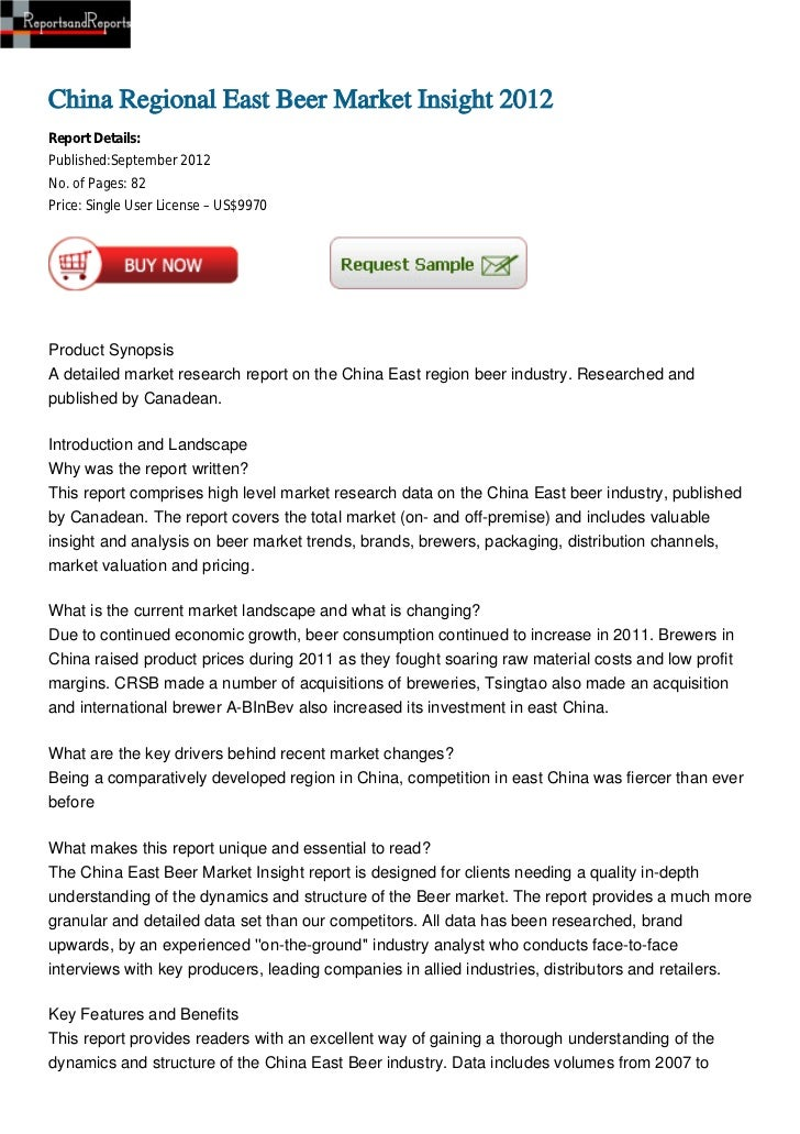 China Regional East Beer Market Insight 2012Report Details:Published:September 2012No. of Pages: 82Price: Single User Lice...