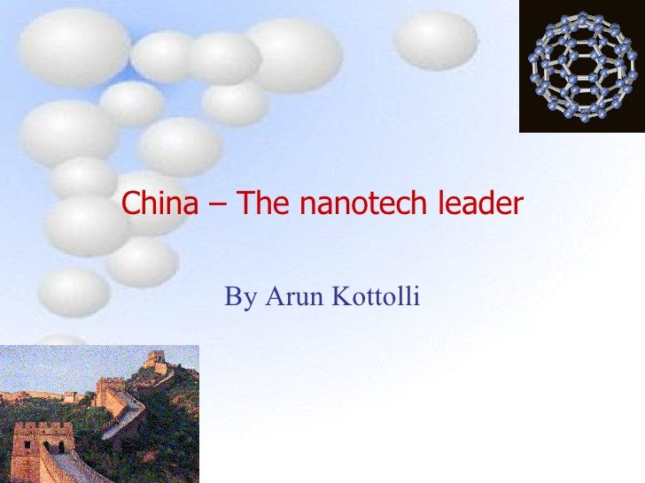 China The Nanotech Leader