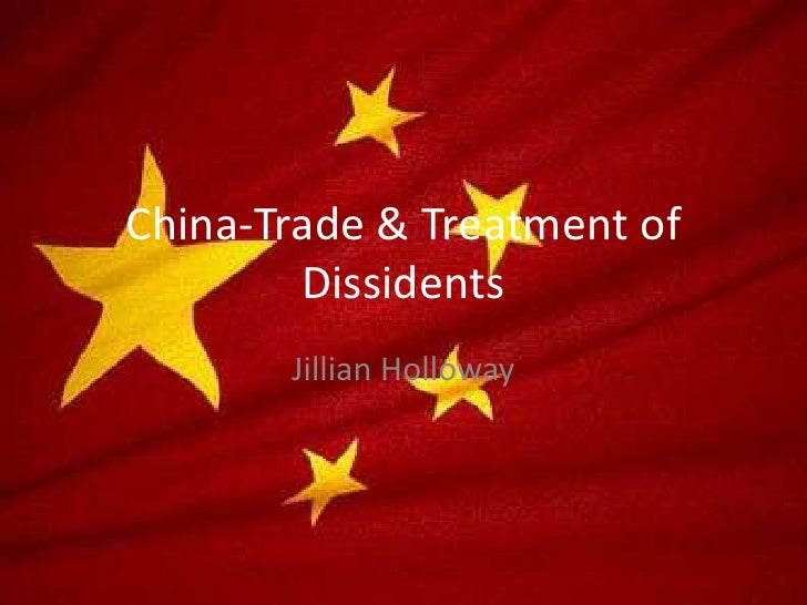 China Trade & Treatment Of Dissidents