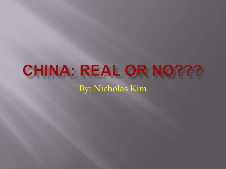 China Yes or No