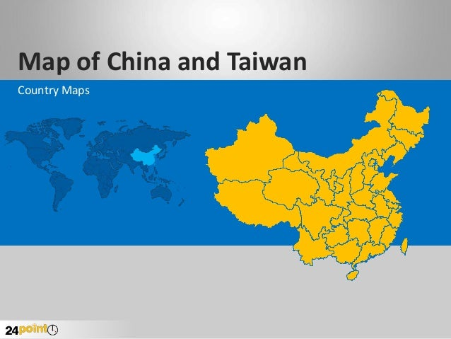 Map of China and Taiwan Country Maps