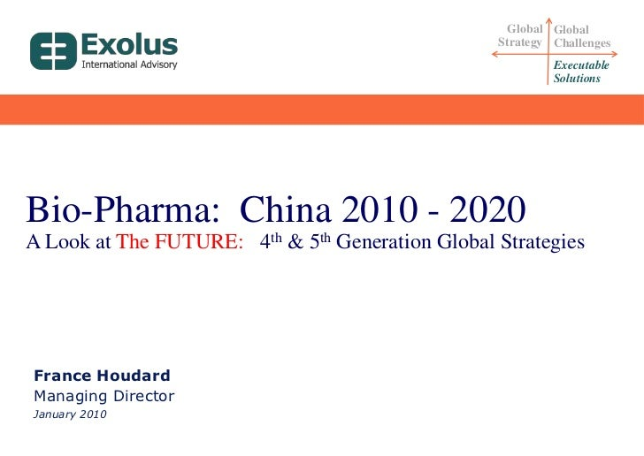 Global Strategy<br />Global Challenges<br />Executable Solutions<br />Bio-Pharma:  China 2010 - 2020<br />A Look at The FU...