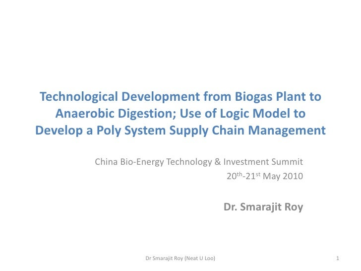 Technological Development from Biogas Plant to Anaerobic Digestion; Use of Logic Model to Develop a Poly System Supply Cha...