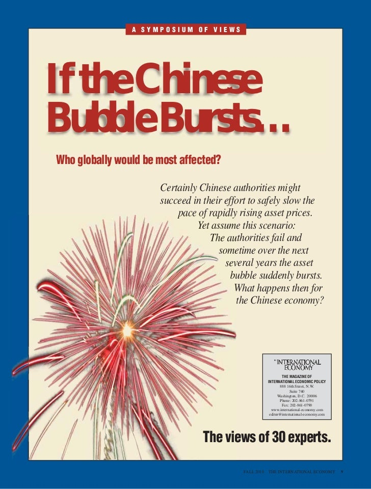 If The China Bubble Bursts: A Symposium of Views