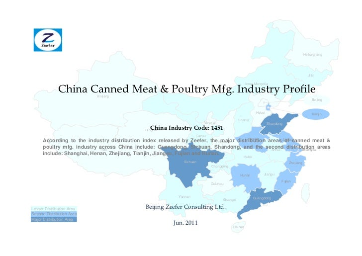 China canned meat poultry mfg. industry profile cic1451   sample pages