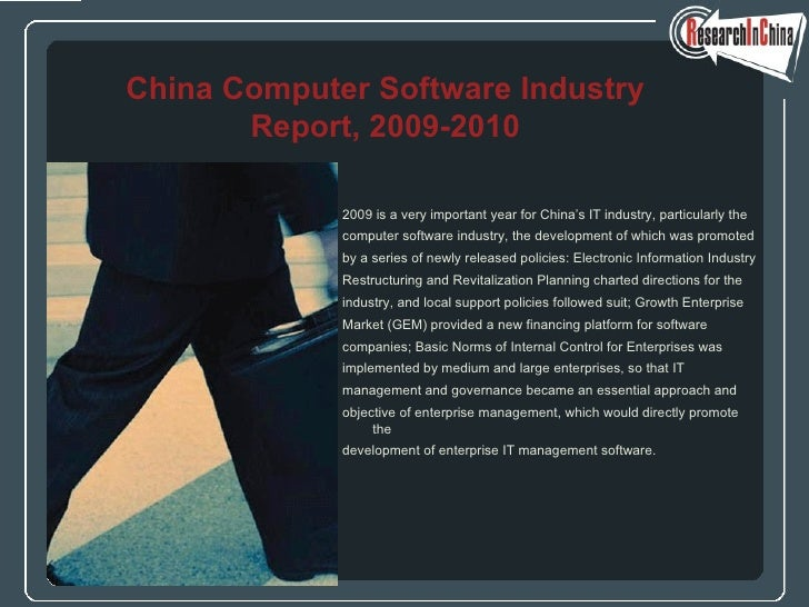 <ul><li>2009 is a very important year for China's IT industry, particularly the  </li></ul><ul><li>computer software indus...
