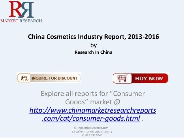 China cosmetics market report, 2013 2016