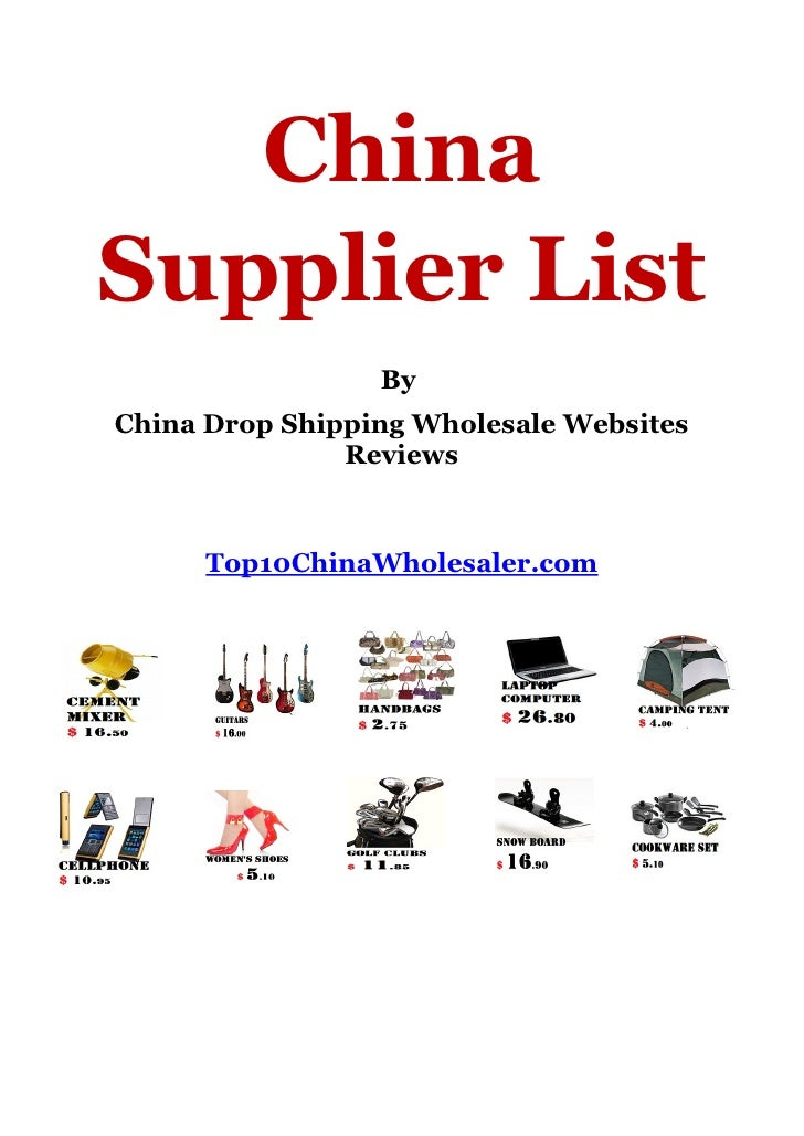 ChinaSupplier List                 ByChina Drop Shipping Wholesale Websites               Reviews      Top10ChinaWholesale...