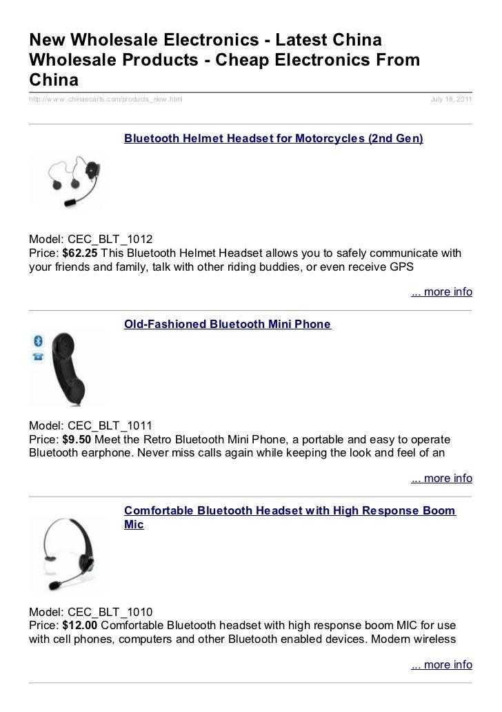 New Wholesale Electronics - Latest ChinaWholesale Products - Cheap Electronics FromChinahttp://w w w .chinaecarts.com/prod...