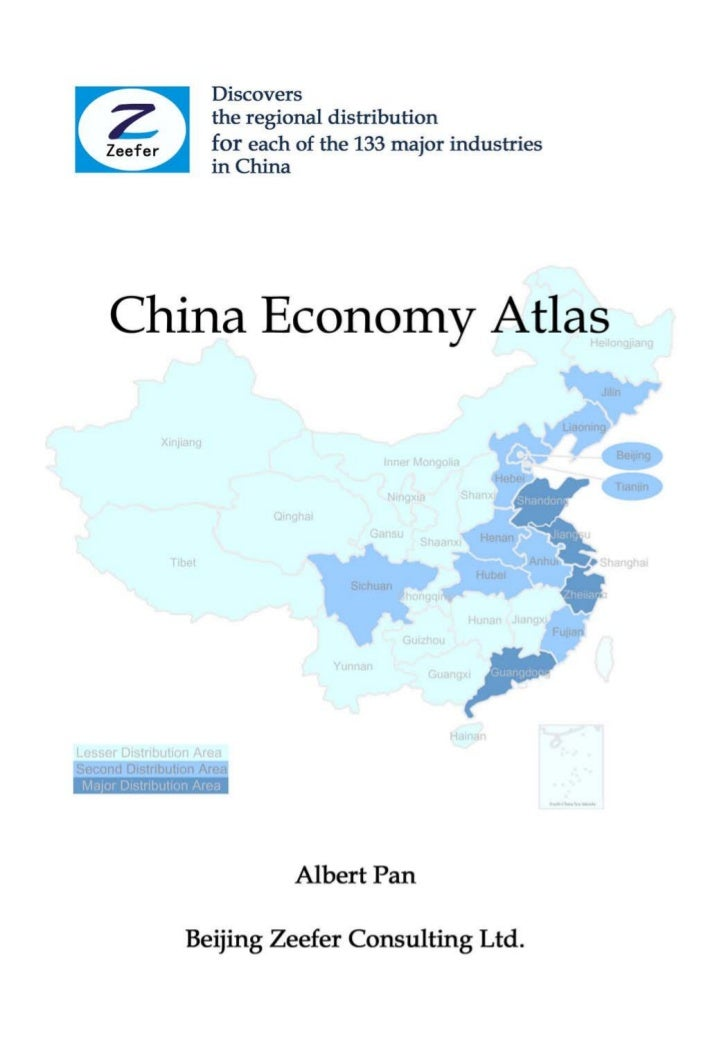 China Economy Atlas - Discovers the Regional Distribution for Each of the 133 Major Industries in China