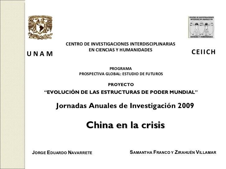 C   E   I   I   C   H CENTRO DE INVESTIGACIONES INTERDISCIPLINARIAS EN CIENCIAS Y HUMANIDADES U N A M PROGRAMA  PROSPECTIV...