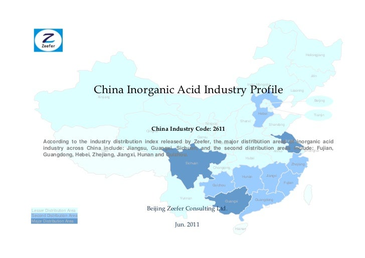 China inorganic acid industry profile cic2611   sample pages