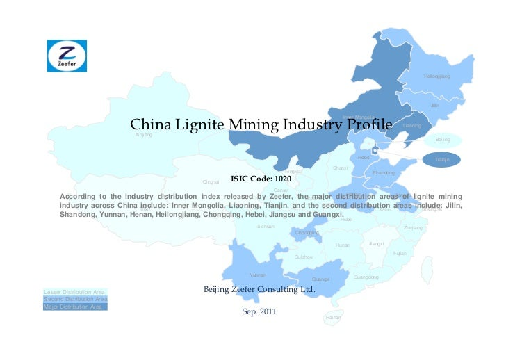 China lignite mining industry profile isic1020   sample pages