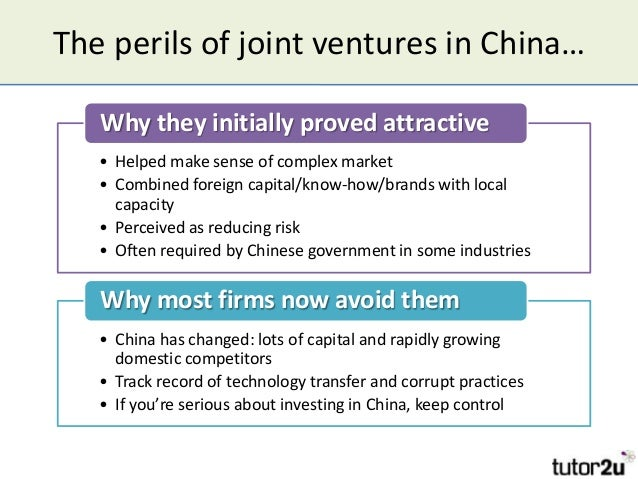 international joint ventures in china after Some joint ventures work,  china's richest india's richest  making joint ventures a strategic success.