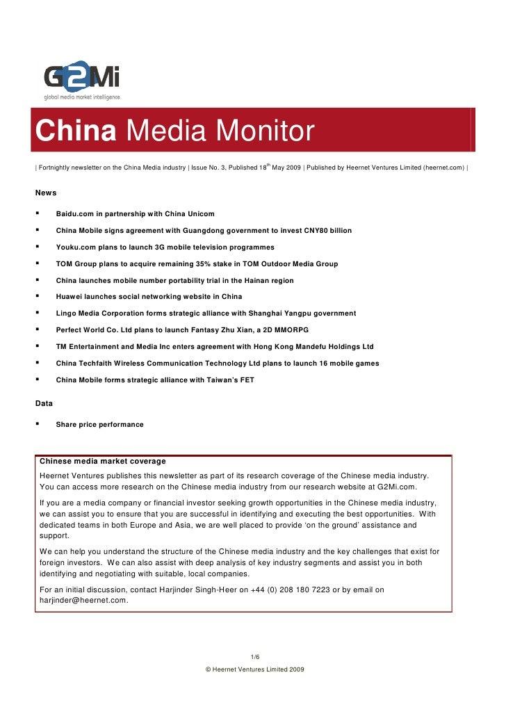 China Media Monitor                                                                               th   Fortnightly newslet...