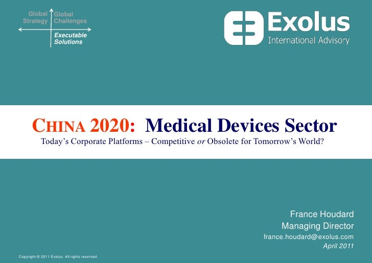 China 2020:  Medical Devices Sector