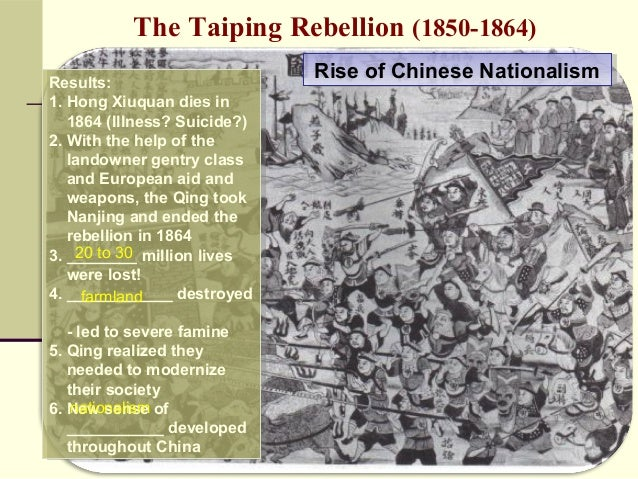 I need a good persuasive thesis statement about the Taiping rebellion. Please Help.?