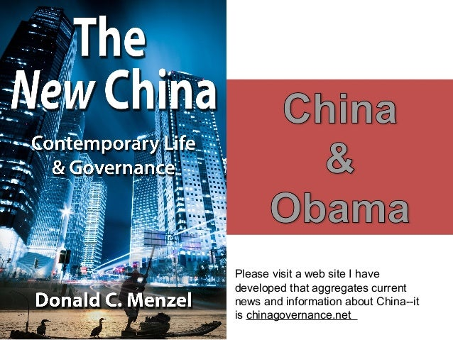 Please visit a web site I have developed that aggregates current news and information about China--it is chinagovernance.n...