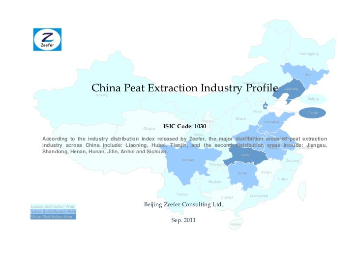 China peat extraction industry profile isic1030   sample pages