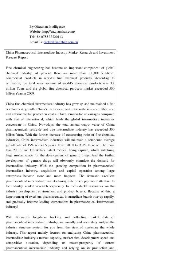 By Qianzhan Intelligence Website: http://en.qianzhan.com/ Tel:+86 0755 33220413 Email us: carter@qianzhan.com.cn China Pha...