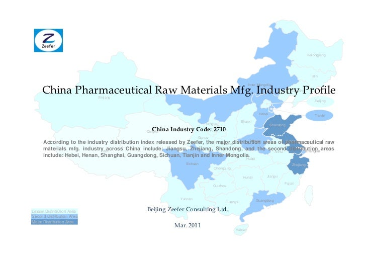 China pharmaceutical raw materials mfg. industry profile cic2710   sample pages