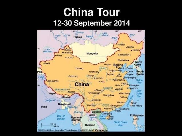 China Tour 12-30 September 2014