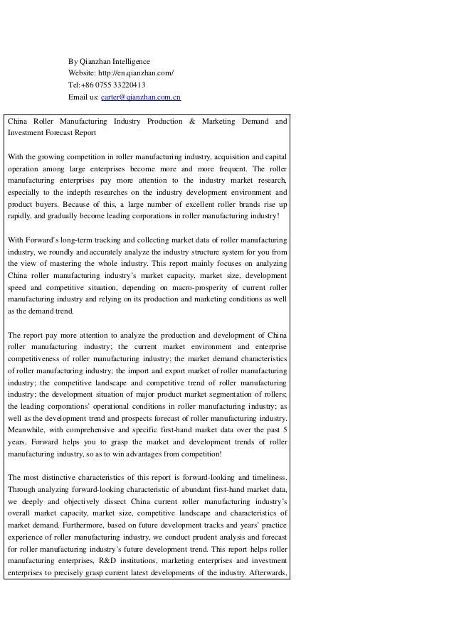 By Qianzhan Intelligence Website: http://en.qianzhan.com/ Tel:+86 0755 33220413 Email us: carter@qianzhan.com.cn China Rol...