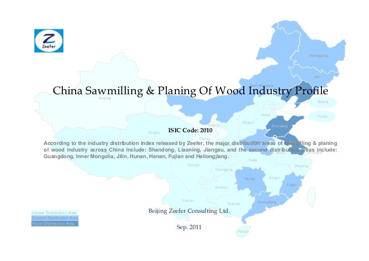 China sawmilling planing of wood industry profile isic2010   sample pages