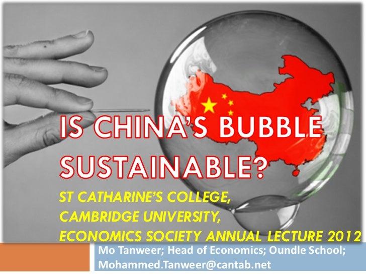 China's Bubble Cambridge Lecture MT