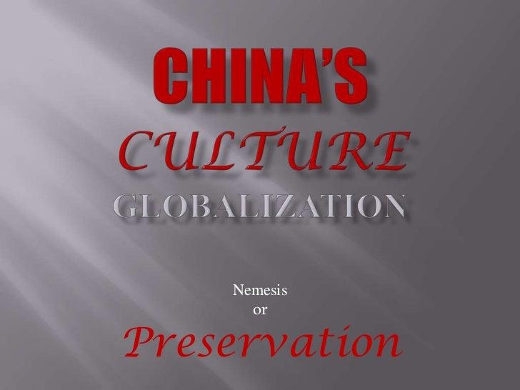 China's Culture Globalization