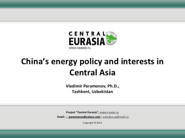 China's energy policy dr paramonov