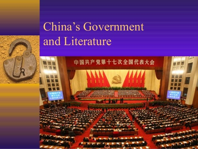 China's Governmentand Literature