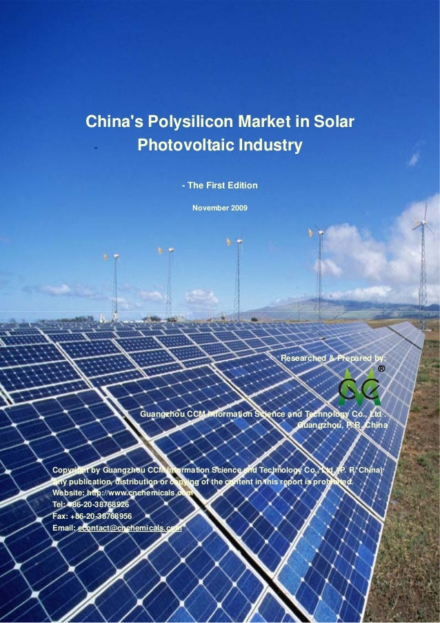 China's Polysilicon Market in Solar Photovoltaic Industry