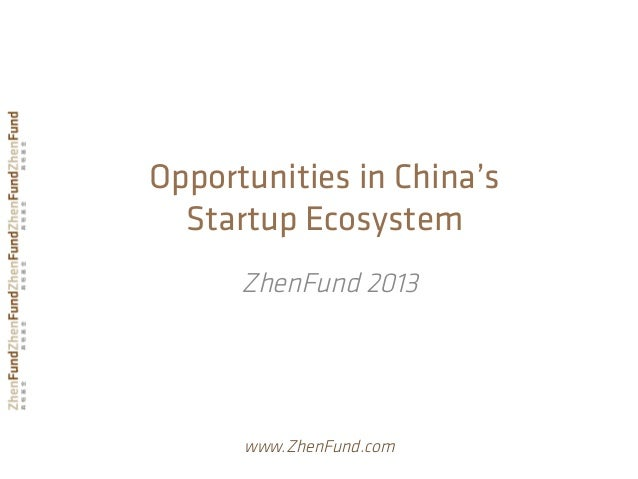 Opportunities in China's Startup Ecosystem