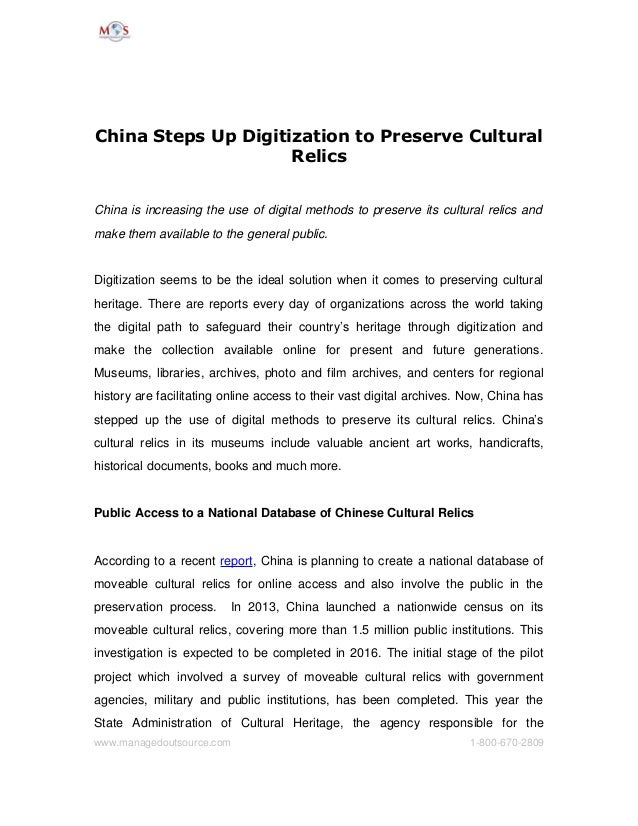 China Steps Up Digitization to Preserve Cultural Relics