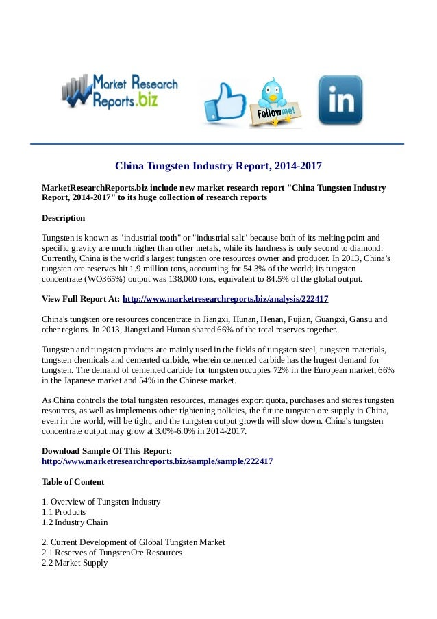 tungsten industry in china 2014 2017 2017 industry trends our annual collection of industry perspectives addresses major trends, challenges, and opportunities for companies to consider in 2017 and beyond.