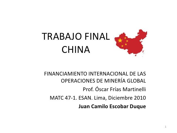 Logica de inversiones China