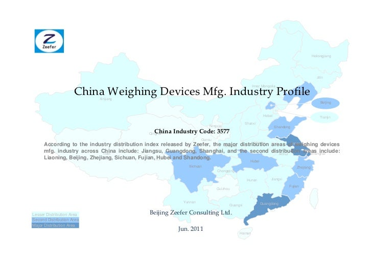 China weighing devices mfg. industry profile cic3577   sample pages