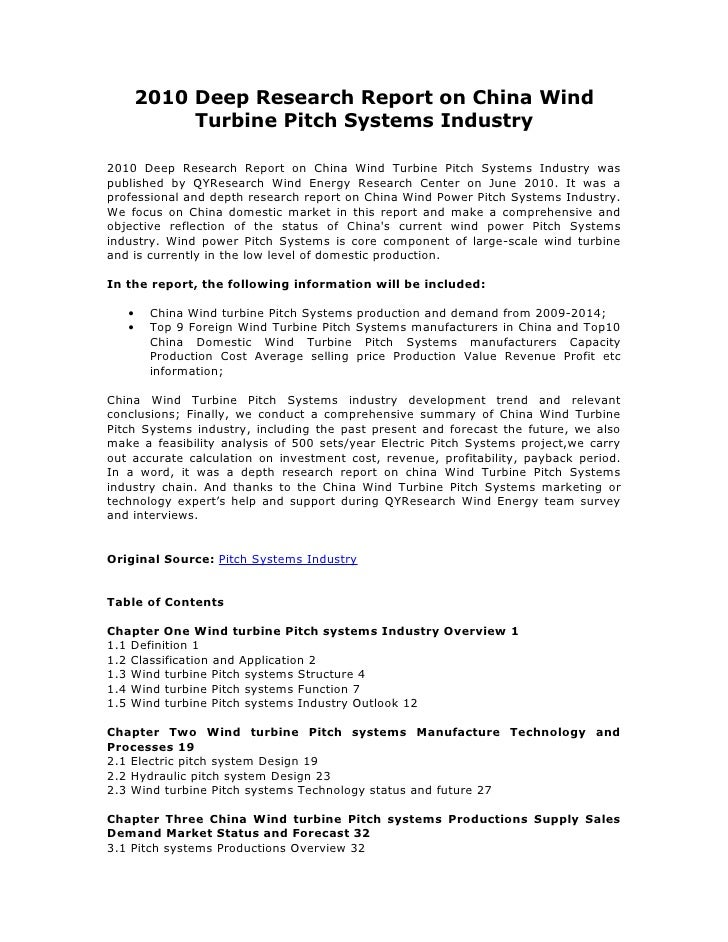China wind turbine pitch systems industry