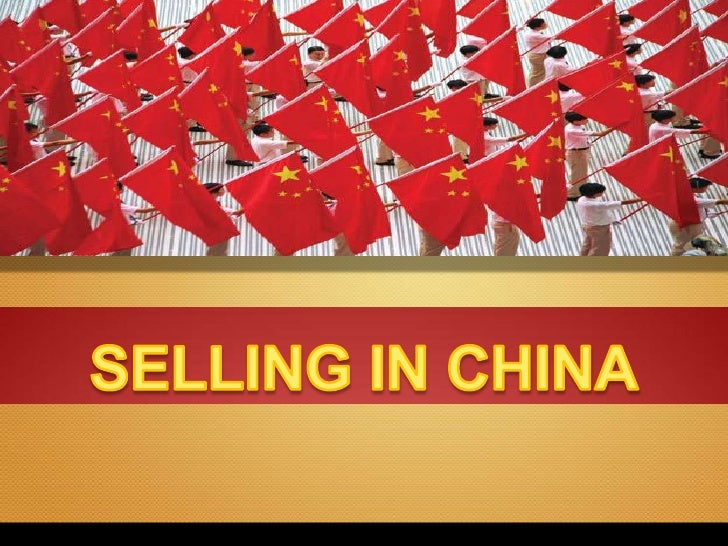 Selling in China