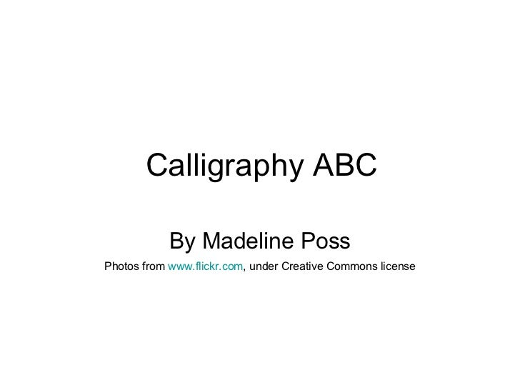 Chinese Calligraphy Abc Book