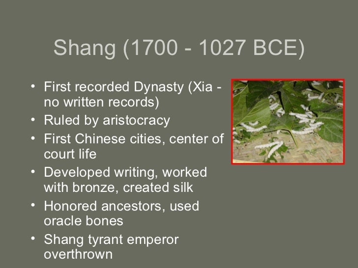 an overview of chinese dynasties China is one of the world's four ancient civilizations, and the written history of china dates back to the shang dynasty (c 1600–1046 bc), over 3,000 years ago.