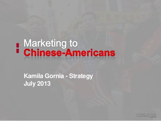 Chinese-American marketing