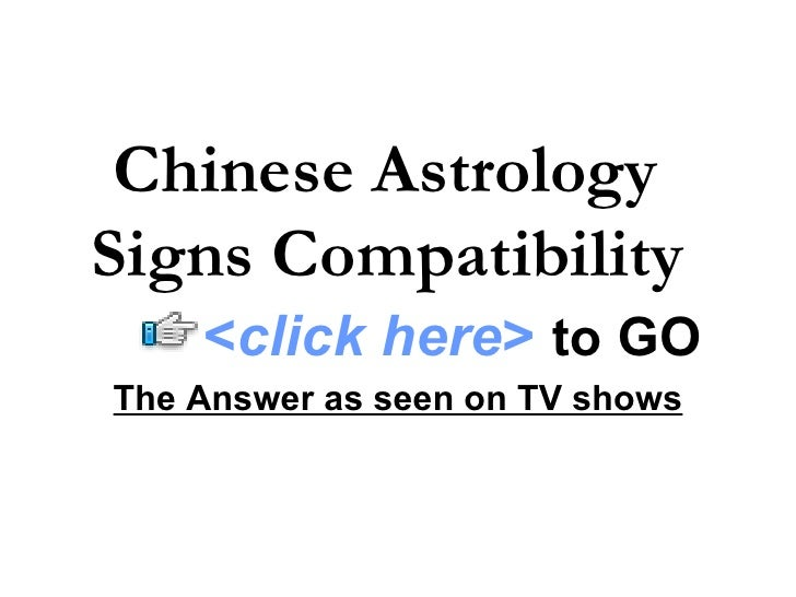 Chinese astrology signs compatibility